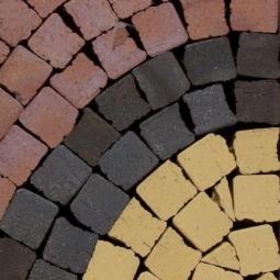 Тротуарный клинкерный кирпич Muhr Mosaik Nr. 01 Niederlausitzer Gelb