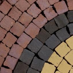 Тротуарный клинкерный кирпич Muhr Mosaik Nr. 04 Rotbraun-bunt