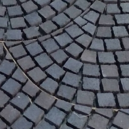 Тротуарный клинкерный кирпич Muhr Mosaik Nr. 05 Eisenschm. Schwarzbraun